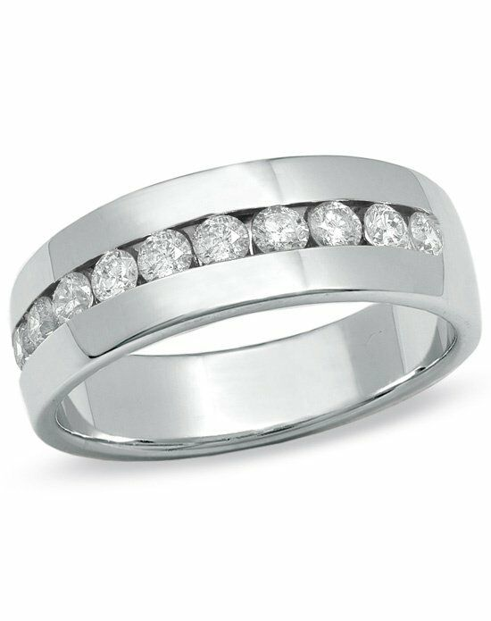 zales s 1 ct t w channel set wedding band in