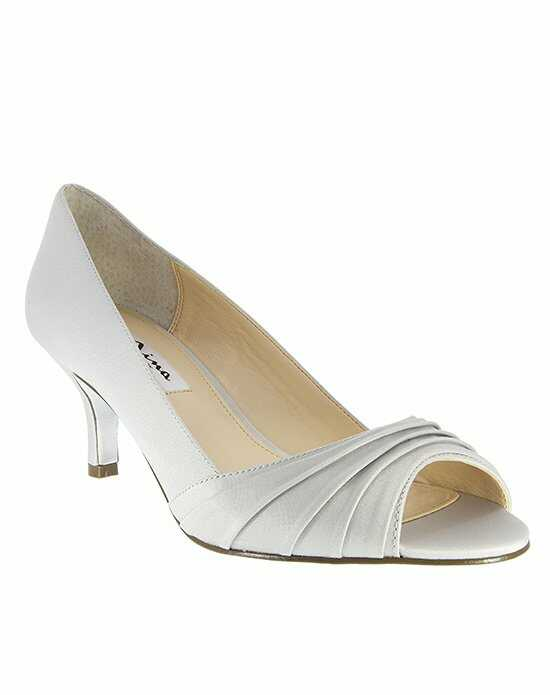 Nina Bridal Wedding Accessories CAROLYN_SILVER LUSTER SATIN Silver Shoe