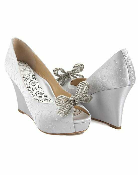 Hey Lady Shoes Lady Buttons garden wedge/little pearl bow Shoe