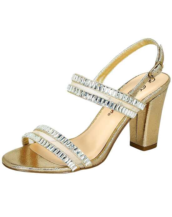 De Blossom Collection Hola-1 Gold Shoe