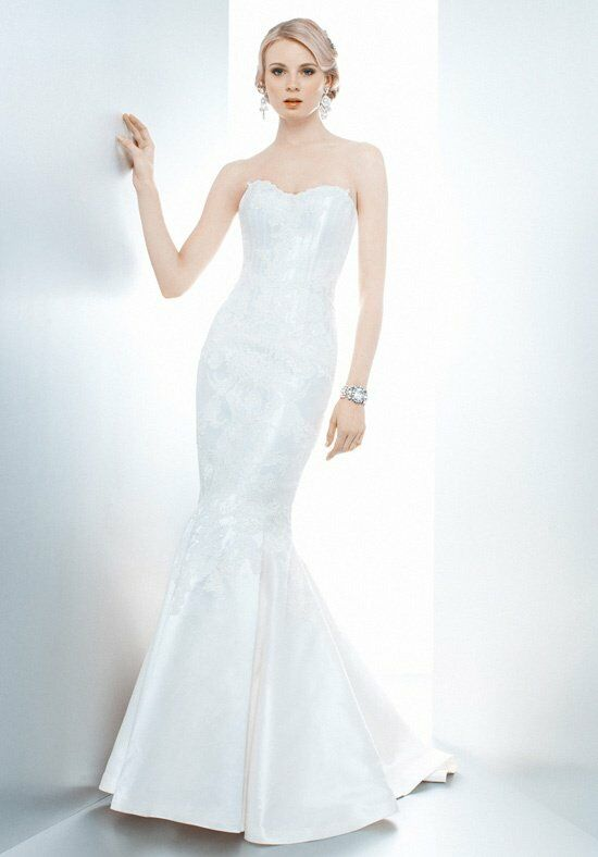 Matthew christopher poppy trumpet wedding dress the knot for Matthew christopher wedding dress prices