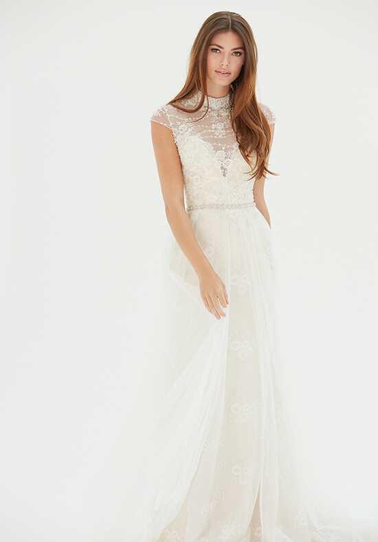 illusion neckline wedding dresses. Black Bedroom Furniture Sets. Home Design Ideas