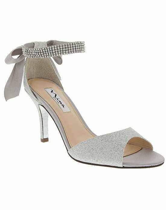Nina Bridal Wedding Accessories VINNIE_SILVER-BLISS Ivory Shoe