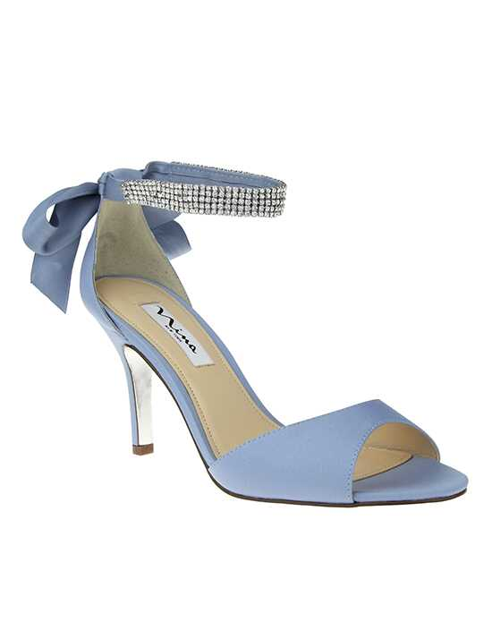 Nina Bridal Wedding Accessories Vinnie_Dusty Blue Blue Shoe