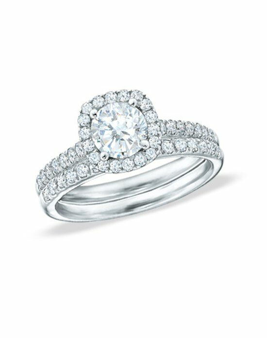 Zales 2 CT T W Diamond Frame Bridal Set in 14K White Gold Wedding
