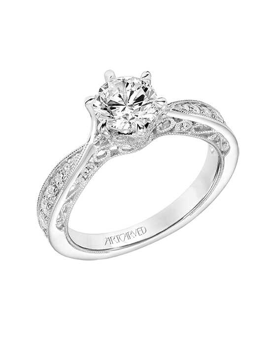 ArtCarved 31-V809ERW-E Engagement Ring photo