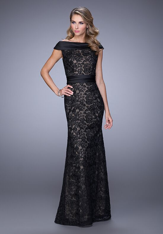 La Femme Evening 21618 Black Mother Of The Bride Dress