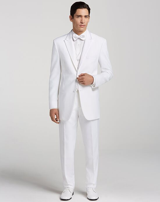 Men's Wearhouse Peak Lapel White Tuxedo White Tuxedo