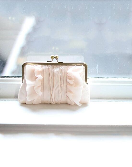 Davie & Chiyo | Clutch Collection Flutter Clutch: Blush Ivory, Pink Clutches + Handbag