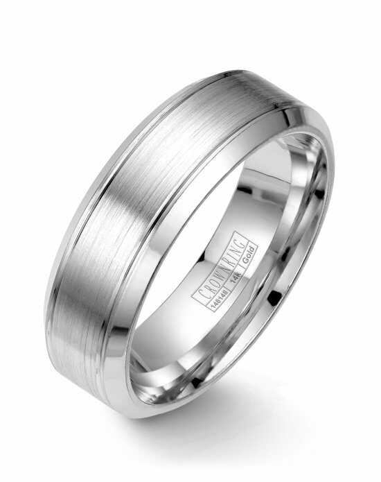 CrownRing WB-9089-M10 White Gold Wedding Ring