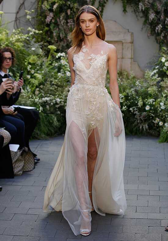 Monique Lhuillier Garland Sheath Wedding Dress