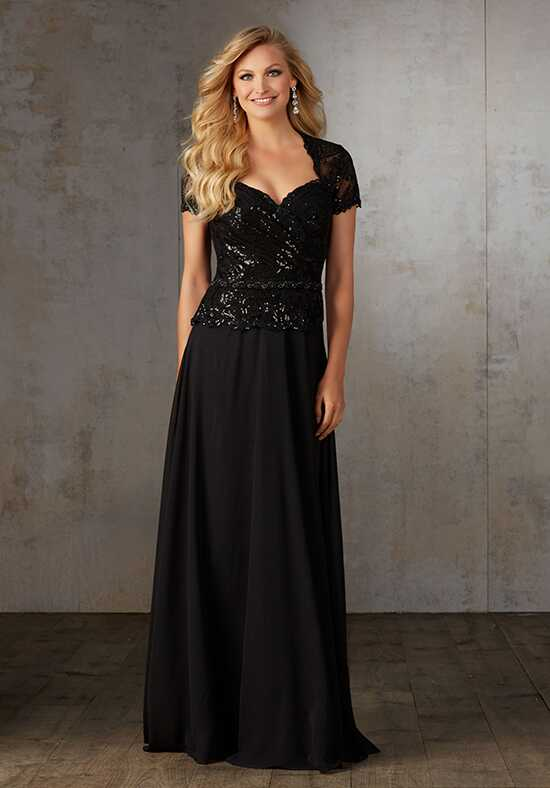 MGNY 71529 Black Mother Of The Bride Dress