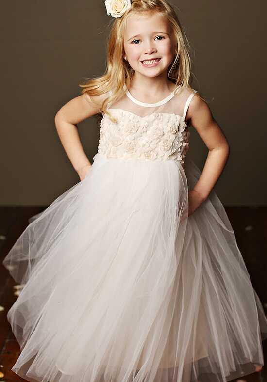 FATTIEPIE Samantha Champagne Flower Girl Dress