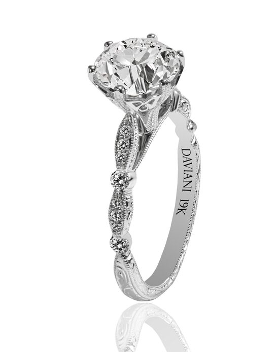 Daviani Love Links Collection DCR1208 White Gold Wedding Ring