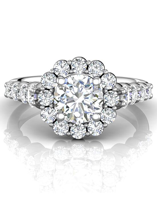 FlyerFit by Martin Flyer Glamorous Round Cut Engagement Ring