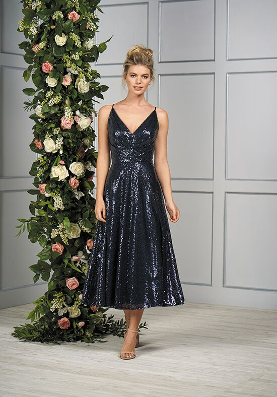 B2 by Jasmine B193058 V-Neck Bridesmaid Dress