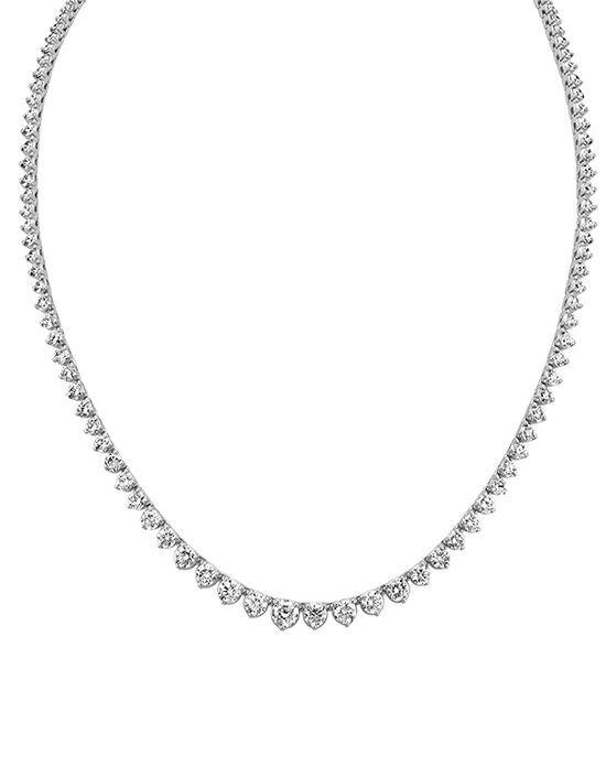 Shane Co. Round Diamond Eternity Necklace Wedding Necklace photo