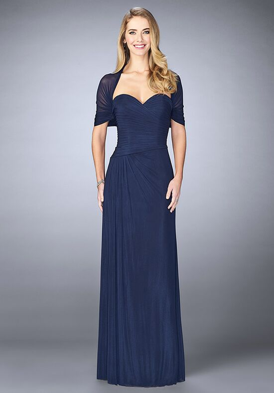 La Femme Evening 23623 Blue Mother Of The Bride Dress