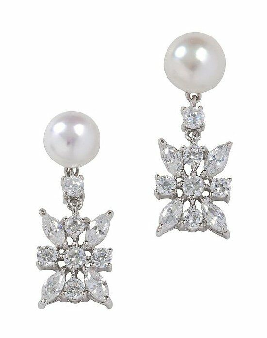 Anna Bellagio CAMIE FRESHWATER PEARL AND CUBIC ZIRCONIA DROP EARRING Wedding Earring photo