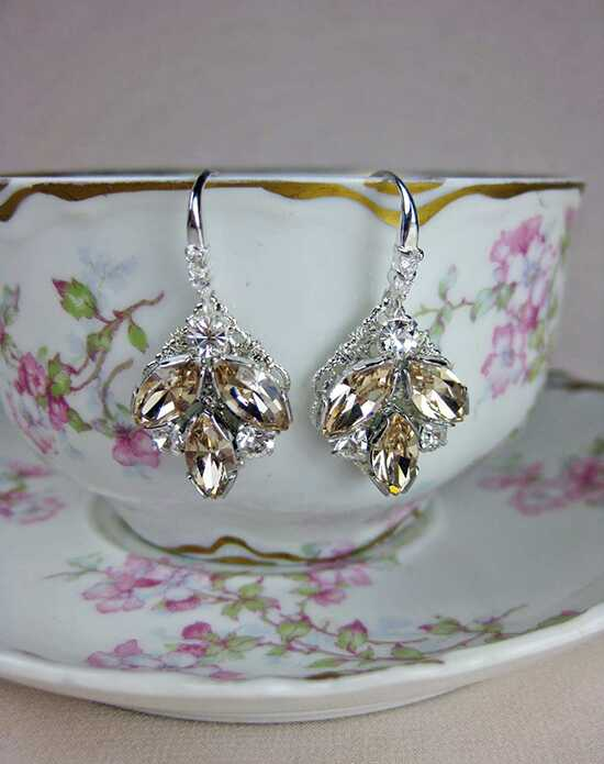 Everything Angelic Taylor Earrings - e306 Lt Silk Wedding Earrings photo