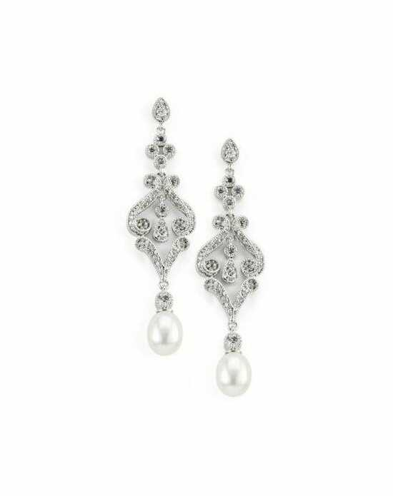 Anna Bellagio AMARI CUBIC ZIRCONIA AND FRESHWATER PEARL EARRINGS Wedding Earring photo