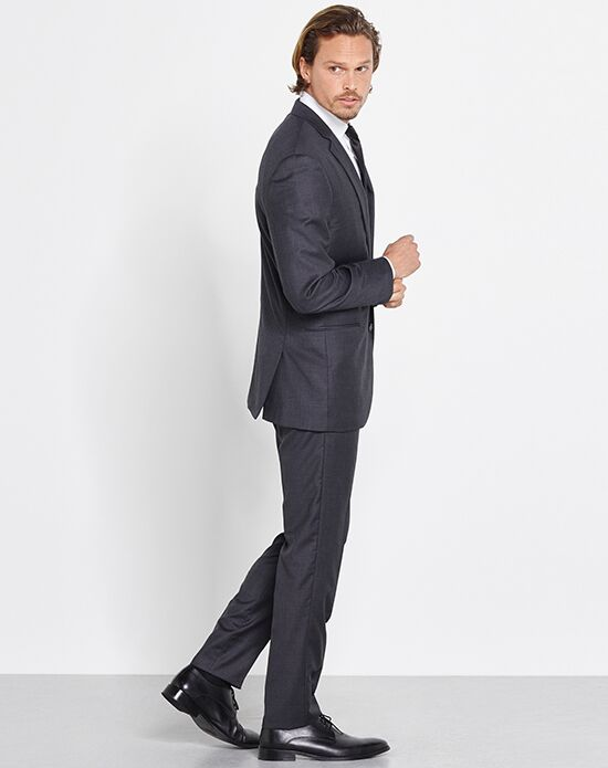 The Black Tux Charcoal Suit Wedding Tuxedo - The Knot