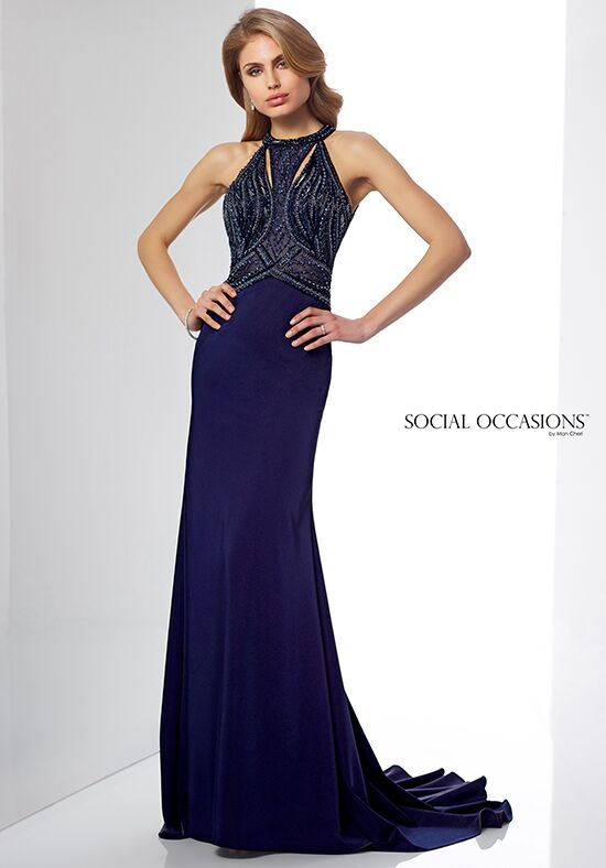 Social Occasions by Mon Cheri 217837 Blue Mother Of The Bride Dress
