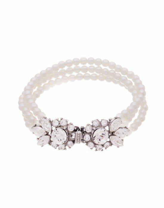 Thomas Laine Ben-Amun Glamour Three Strand Pearl and Crystal Bracelet Wedding Bracelet photo