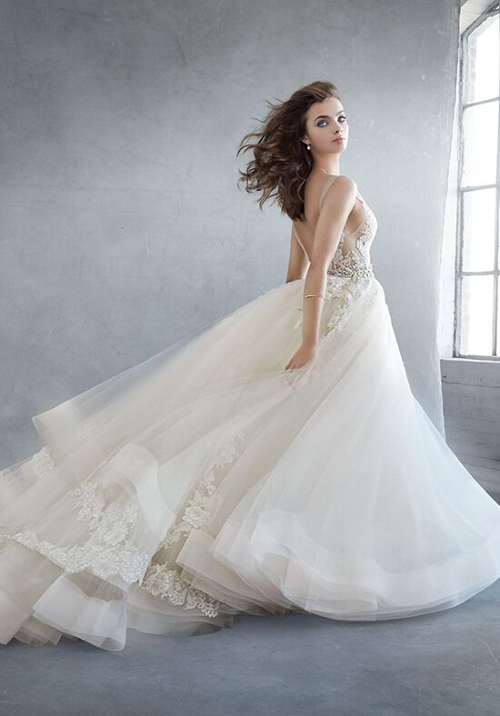 Lazaro 3607 wedding dress the knot for Where to buy lazaro wedding dresses