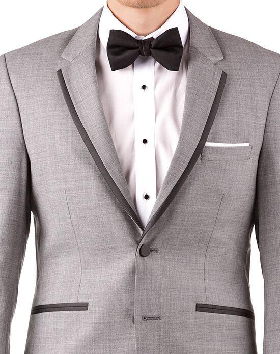 Generation Tux Light Gray Notch Lapel Tux Black, White, Gray Tuxedo