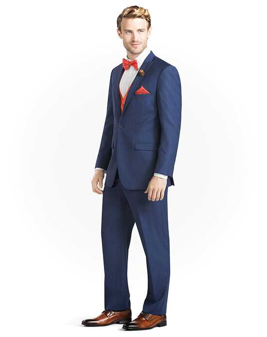 Generation Tux Mystic Blue Peak Lapel Suit White, Blue Tuxedo
