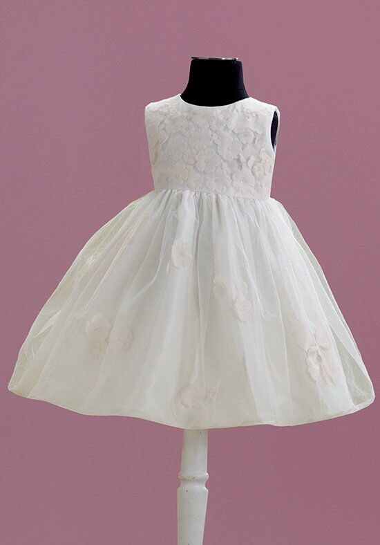 Joan Calabrese by Mon Cheri 215355B Ivory Flower Girl Dress