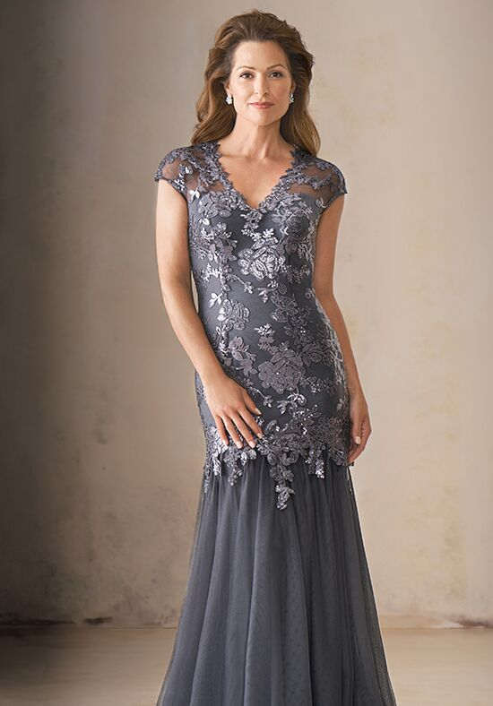 Jade Couture K208015 Silver Mother Of The Bride Dress