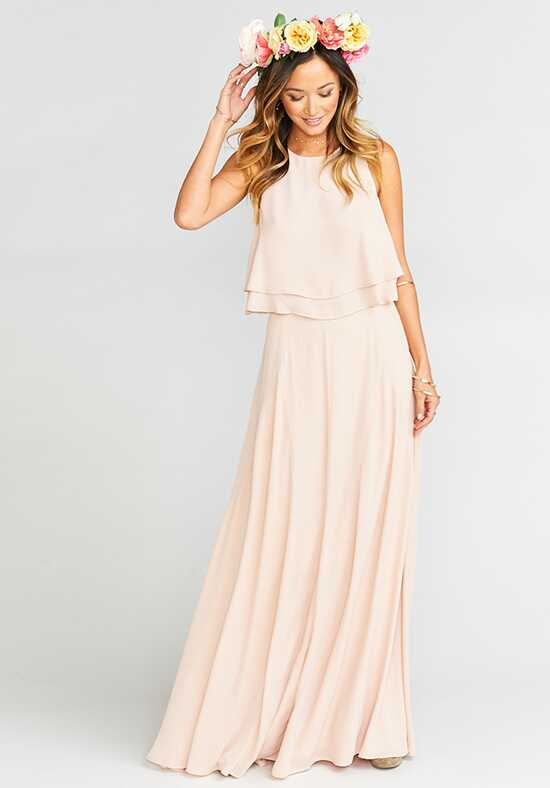Show Me Your Mumu Princess Di Ballgown - Dusty Blush Crisp Square Bridesmaid Dress