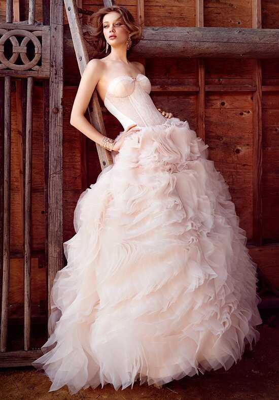 Lazaro 3550 Ball Gown Wedding Dress