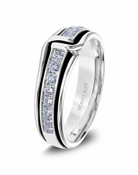 Scott Kay G4088RBV6 Platinum Wedding Ring
