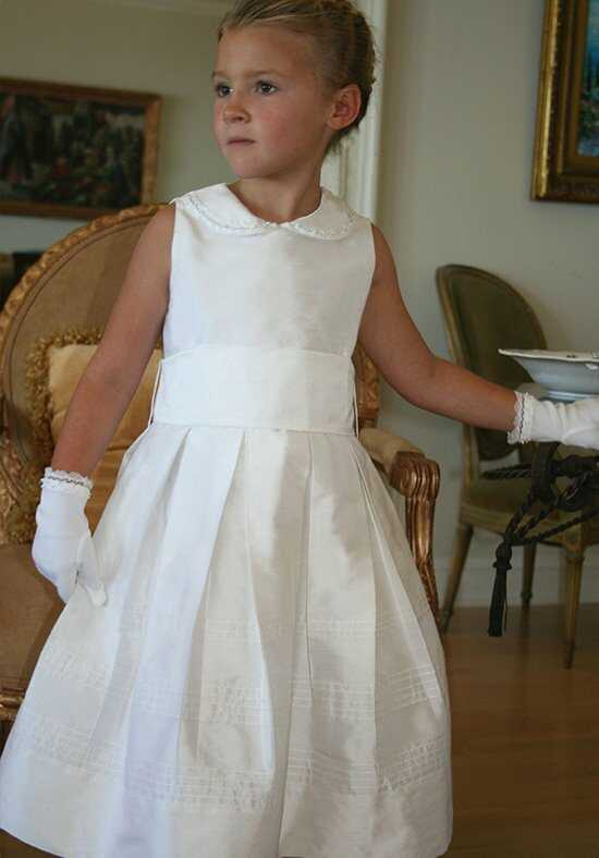 Isabel Garretón Subtle White Flower Girl Dress
