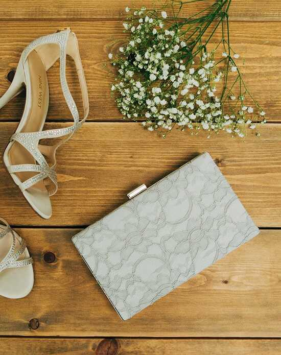 Davie & Chiyo | Clutch Collection Antoinette Box Clutch: Dove Grey Ivory, Pink Clutches + Handbag