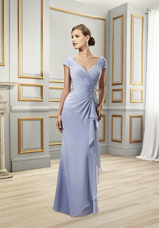 Val Stefani Celebrations MB7501 Blue Mother Of The Bride Dress
