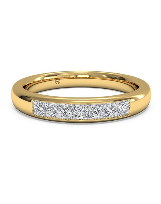 Ritani Women S Channel Set Diamond Wedding Band In 18kt Yellow Gold 0 25 Ctw
