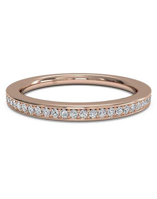 Ritani Women's Micropave Diamond Wedding Band - in 18kt Rose Gold (0.12 CTW) Rose Gold Wedding Ring