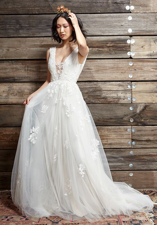 Super Ivy & Aster Cherry Blossom Wedding Dress - The Knot BZ26