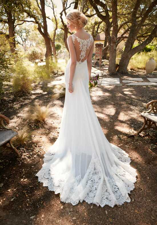 Essense of Australia D2136 Sheath Wedding Dress