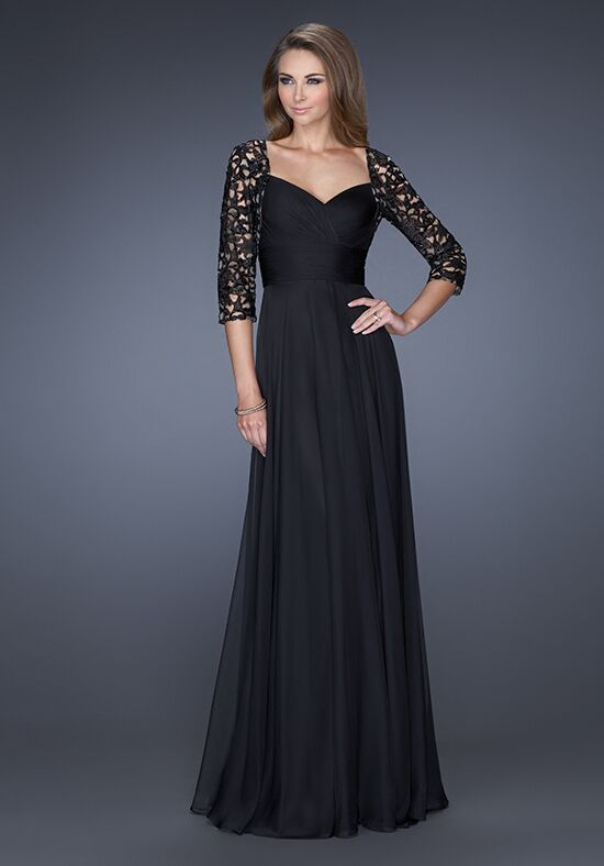 La Femme Evening 19149 Black Mother Of The Bride Dress