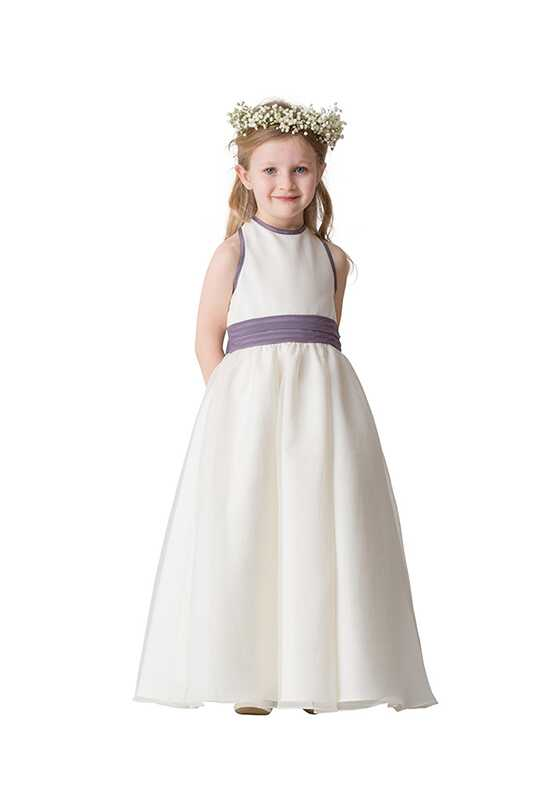 Bari Jay Flower Girls F5416 Purple Flower Girl Dress