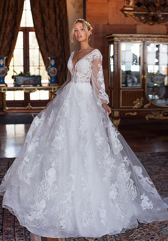 Moonlight Couture H1375 A-Line Wedding Dress