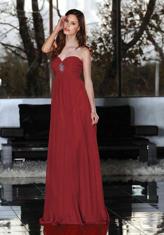 Davinci bridesmaids 60139 bridesmaid dress the knot for Da vinci red wedding dress