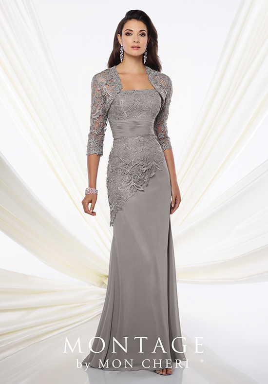 Montage by Mon Cheri 116944 Grey Mother Of The Bride Dress