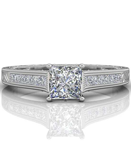 FlyerFit by Martin Flyer Princess Cut Engagement Ring