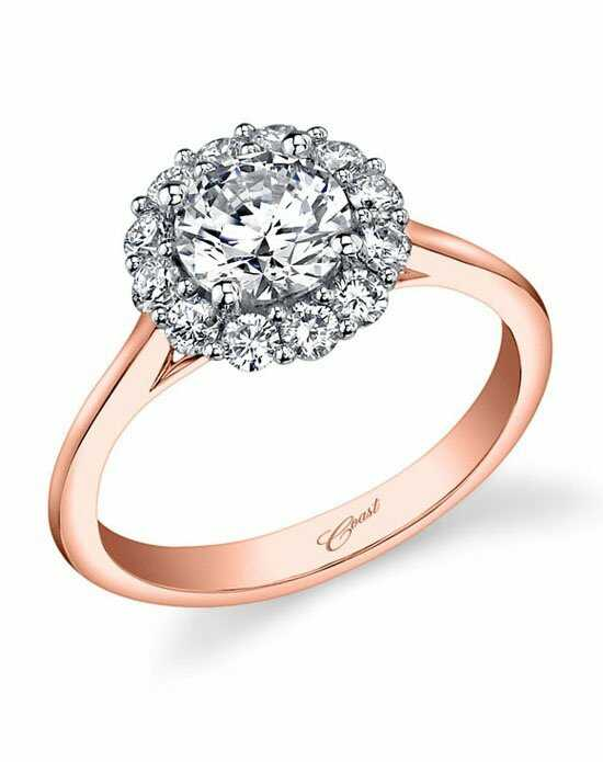 Coast Diamond Glamorous Round Cut Engagement Ring